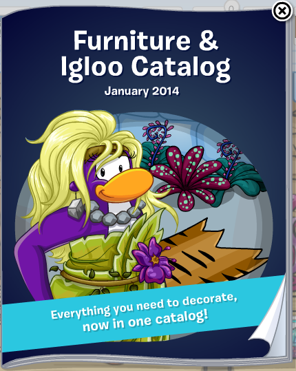club penguin furniture and igloo catalog january 2014 cheats