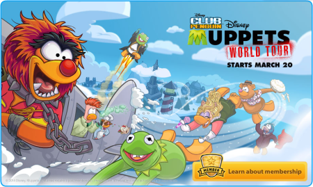 club penguin login screen muppets world tour 2014