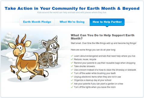 Club Penguin Earth Month: Free Bear Costume Code - April 2014